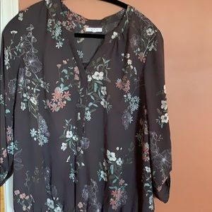 Preowned Maurice's top , 3/4 sleeves